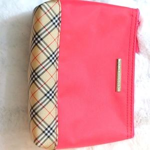 LIKE NEW BURBERRY PINK X CHECK POUCH